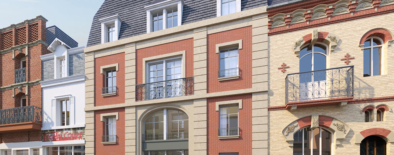 L'Amalia, façade rue Gambetta